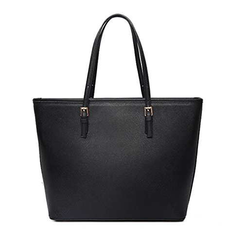 Ladies Designer Leather Style Large Tote Bag Shoulder...
