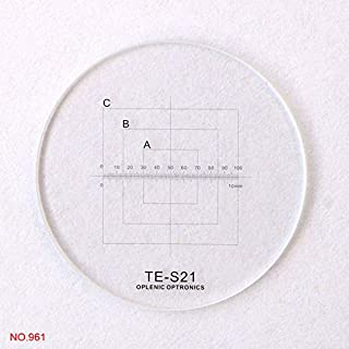 Color:Diameter 25mm 935 0.1mm Cross Ruler Stage Micrometer Cross Circle Reticle Inside and Outside Objective Lense Micrometer for Microscope Mercury/_Group