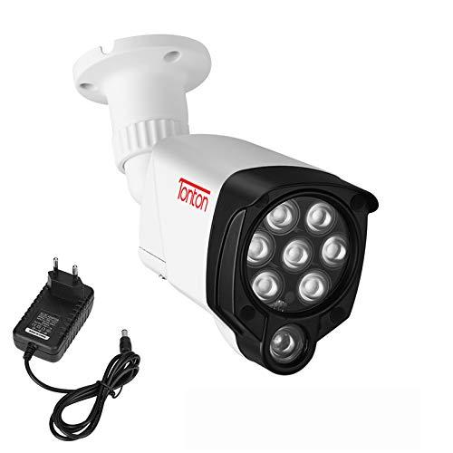 Tonton 8 LED IR-Licht Beleuchtungslampe Infrarotstrahler 30M (100ft) Infrarot-Nachtsicht für Überwachungskamera Zusatzlicht Videoüberwachung mit 3M DC Netzteil für Innen-und Außenbereich wasserdicht