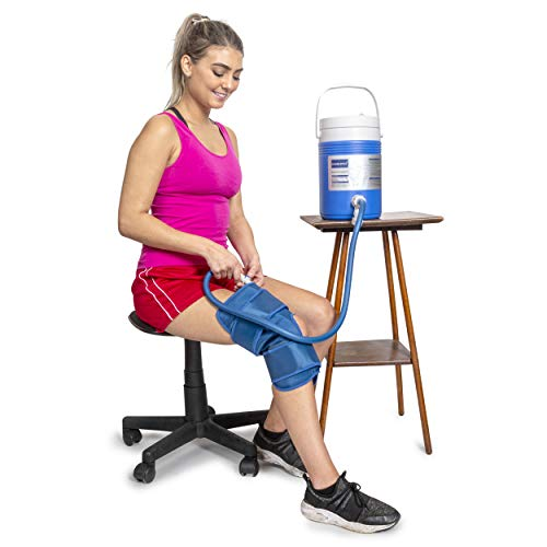 Cryo Cuff Knee Cooler Cold Therapy Ice Machine for Knee System   Cryotherapy Cuff Machine Combines Compression with Cold Therapy   Essential for After Knee Surgery, Trauma, Rehab & Sports Injuries