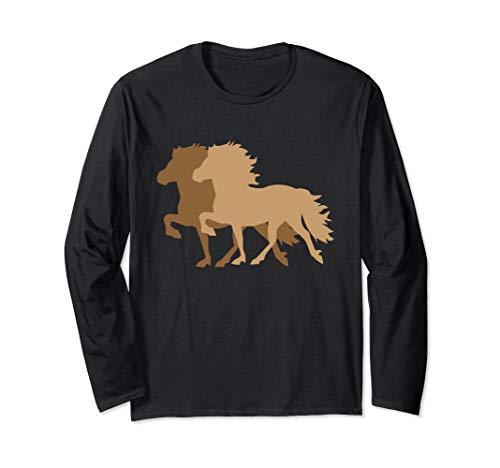 Islandpferd Langarmshirt