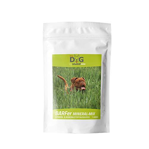 animalone The Dog - BARFer Mineral-Mix - 1 KG - mit allenlebensnotwendigen Mineralien, Vitaminen und Spurenelementen - angereicherte Mineralstoffmischung für den gesunden Hund