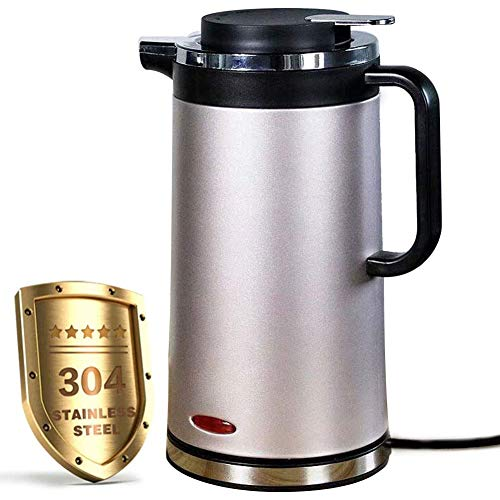 Stainless Steel Electric Water Kettle, 2.0L Cordless Tea Kettle with Auto Shut-Off & Boil-Dry Protection, Double Wall Anti Hot Water Boiler, Insulation Kettle, Gold
