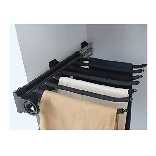 WANGF Porte-Pantalon Coulissant Latéral Porte-Pantalon Coulissant Rétractable Porte-Pantalon Push-Pull Armoire Tringle à Vêtements Organisateur de Vêtements