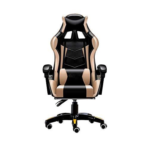 N/Z Tägliche Ausrüstung Stuhlmassage Computerspielstuhl mit Kopfstütze und Lendenkissen liegend Ergonomischer Rennsport Bürostuhl Tragfähigkeit: 330 Pfund Schwarz Blau