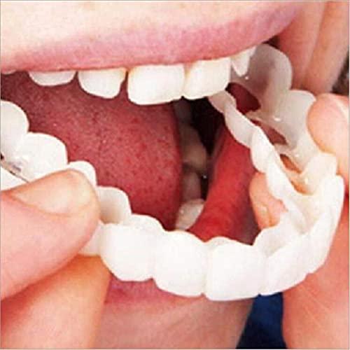 Magic Teeth Brace Top And Bottom,Dentures,Temporary Dental Prosthesis,False Teeth,Top Cosmetic Dental Veneers,Comfort…