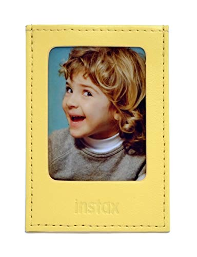 Fujifilm Instax Mini Yellow - Moldura Polipiel para Fotos, Color Amarillo