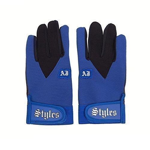 WWE Wrestling official - AJ Arten blau / schwarz offizieller Werbeartikel Replikat Pro Handschuhe - eine Größe passend für die meisten - nagelneu