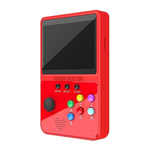 Kaxofang Consola PortáTil de Videojuegos Arcade Rockero de Lucha MáQuina de Juegos Mando de Videojuegos de Videojuegos Retro M9 para Regalo de NiiOs (Rojo)