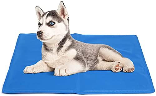 Alfombra Refrescante para Perro Alfombrilla de Refrigeración para Animales de Compañía Alfombrilla refrescante para Mascotas (Azul40*50CM)