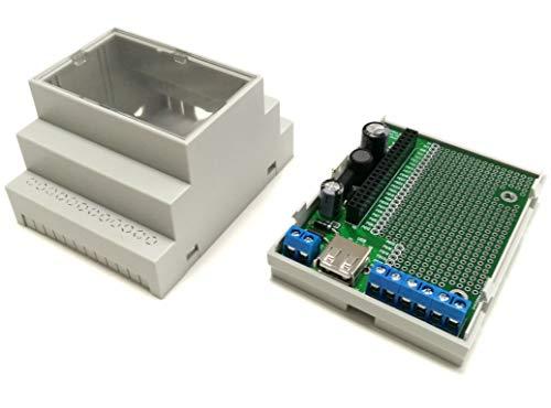Raspberry Pi Zero - Hutschienen Gehäuseset mit Experimentierboard