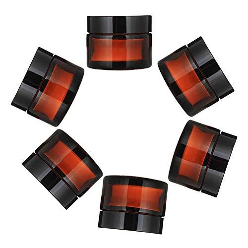 Los tarros de cristal con tapa cosmética tarros de vidrio Contenedores de...
