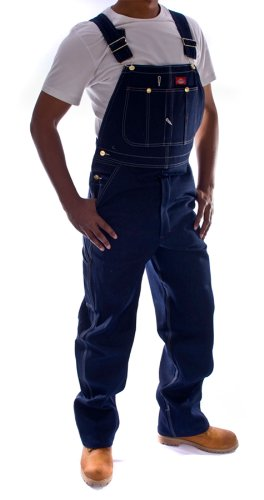 Dickies - Latzhose, Denim - Indigoblau DB100RNB Arbeit Jeans männer jeanslatzhos DickiesIndigo-44W-34L