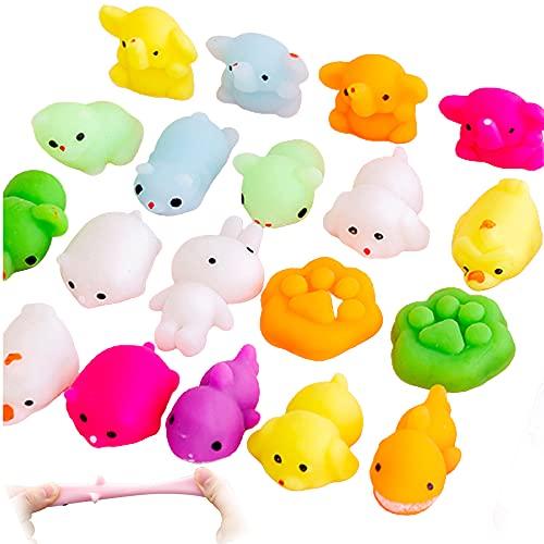 Mochi Squishy Toys, Moji Fidget Toys, Stressabbau Squeeze Fidget Toys Party Favors Pack, Mini Animal Squishy Toys Pack, Kawaii Cute Soft Toys Fidget Hand Spielzeug für Kinder Party Tasche Spielzeug