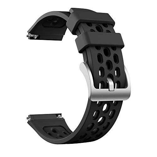 DXFFOK Sport Silicone Watch Strap para Huawei Watch GT 2E SmartWatch Original Reemplazo de la Banda GT2E Pulsera 22mm Brazalete. (Band Color : Black, Band Width : Only The Strap)