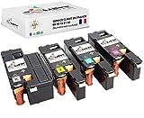 Cometa CX17 C1700 - 4 cartuchos de tóner compatibles con Epson AcuLaser C1750N C1750W CX17NF CX17WF - 1 negro + 1 cian, 1 magenta y 1 amarillo