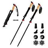 Joiry Trekking Poles Collapsible Lightweight Aluminum Walking Sticks for Hiking Climbing with Anti