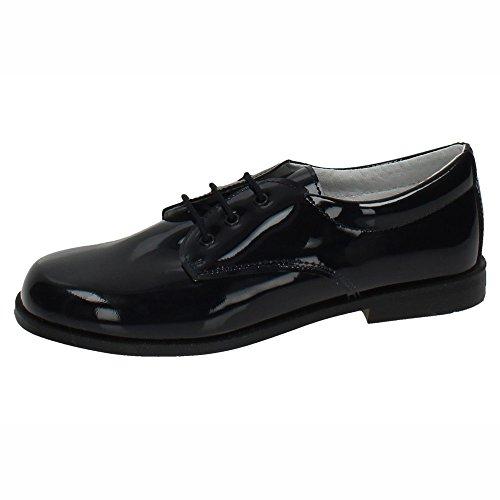 PUERTORREY 4143 Zapatos Piel Charol NIÑO Zapato COMUNIÓN Azul Marino 34