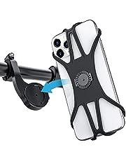 Teaisiy Soporte Teléfono Bicicleta, Soporte Universal para Movil, 360° Rotación Soporte Universal Manillar de Silicona para Bicicleta de Montaña y Motocicleta,para Inteligente de 4-6.8 Pulgadas