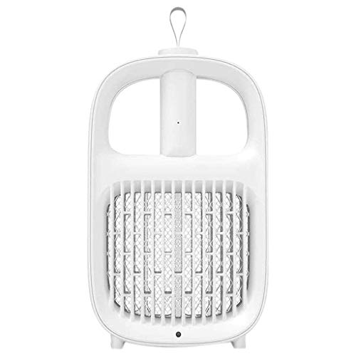 Domilay Raqueta EléCtrica para Insectos Swatter Zapper USB 1200MAh Recargable Swatter Kill Fly Bug Zapper Killer Trap