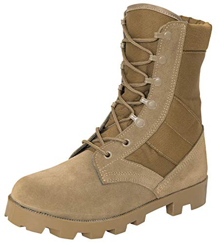 Rothco G.I. Type Speedlace Combat/Jungle Boot, AR 670-1 Coyote Brown, Regular, 9