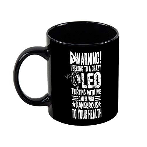 NA Tazza da caffè in Ceramica Appartengo a Un Pazzo Leo novità caffè Tazza da tè Regalo Natalizio Regalo di Compleanno, 11 Once