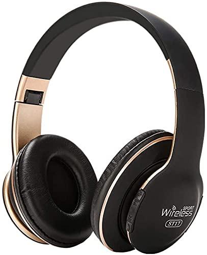 Auriculares inalámbricos Bluetooth 4.1, estéreo, auriculares con micrófono integrado, estilo deportivo, con cancelación de ruido para iPhone, Samsung, Android, PC, juegos