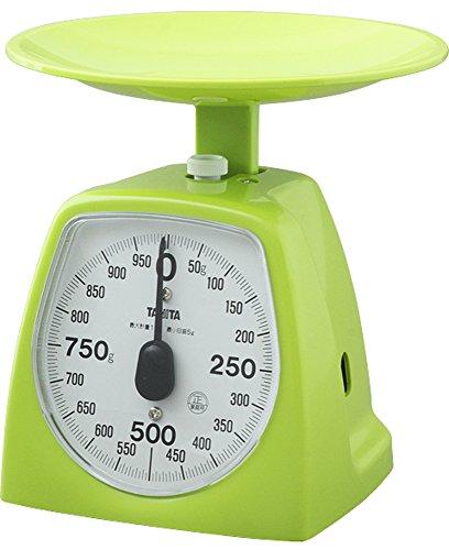 タニタ キッチンスケール はかり 料理? アナログ 1kg 5g単位 グリーン 1439-GR