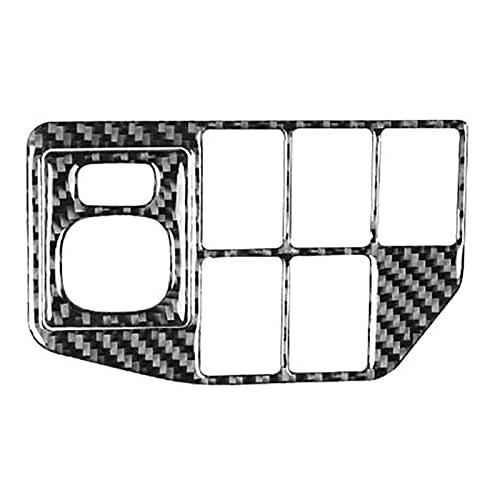 ZXCVBN wahawa Ajustar para Toyota Prius 2012-2015 Control de Fibra de Carbono Control de la luz Delantero Ajustar la Cubierta Pegatina de Ajuste Accesorios para automóviles, LHD