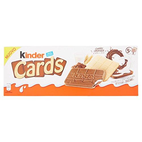 Kinder Cards - Biscotto Ripieno al Latte e Cacao - 10 confezioni da 128g [1,28 kg]