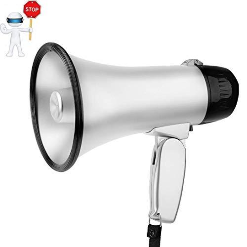 Zixin Tragbare Handmegaphon Peddle Trompeten Lautsprecher Recording Horn Tour Guide Lautsprecher Lautes Volume Professionelle Outdoor-Stimme for Polizei Cheer