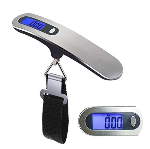 Básculas de Mano Báscula de Mano Escala de Colgar 50 kg / 110 LB Escala Digital Colgante para Maleta de Viaje Maletas para Colgar Maletas Balanza de pesaje electrónica