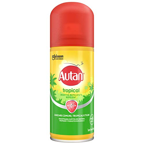 Autan Tropical Spray, Secco Repellente - 100 ml