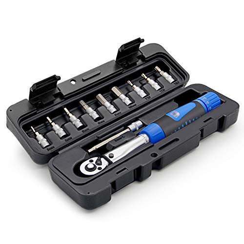 "Drehmomentschlüssel Fahrrad und Motorrad 1/4"" Socket Set 2-24Nm Drehmoment Reparatur Tool Drehmomentadapter Rohrsteckschlüssel"