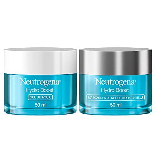 Neutrogena Hydro Boost Rutina de la Crema de Día y Noche, Hyaluronic Acid and Botanical Trehalose, Pack de 2 Unidades