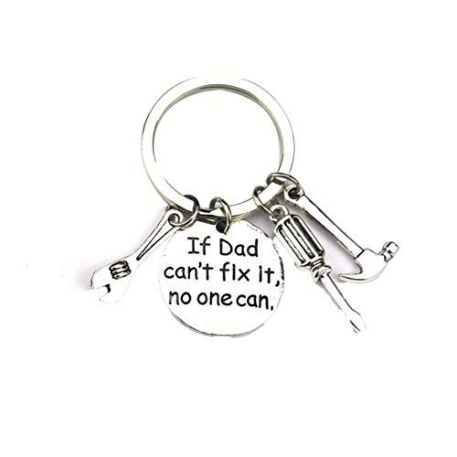 DBSUFV Gadget Metal Key Ring Zinc Alloy Metal Pendant Keychain Beautiful Inscription Tag