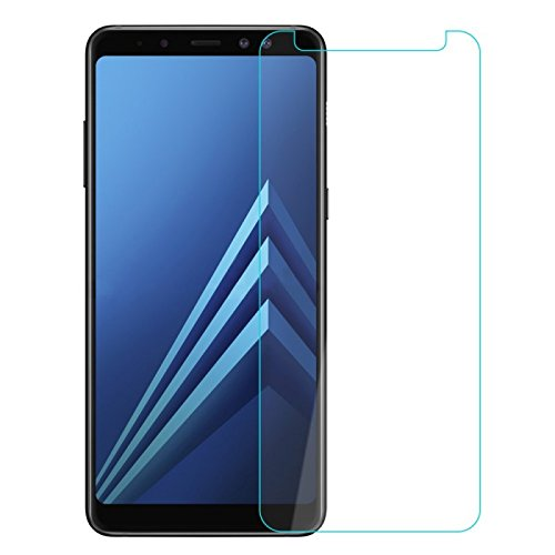 COPHONE® Pack de 2 Verres trempé Samsung Galaxy A8 2018, Film de Protection écran Premium Anti Chocs et Casse, Anti Empreintes, Bords arrondis,dureté Max 9H Tempered Glass 2,5d