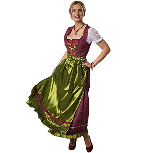dressforfun 900587 Maxi-Dirndl, Langes, gepunktetes Dirndl in traditionellem Stil - Diverse Größen - (XL| Nr. 302918)