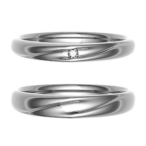 [ココカル]cococaru ペアリング 結婚指輪 プラチナ Pt900 2本セット マリッジリング ダイヤモンド 日本製(レディースサイズ5号 メンズサイズ8号)