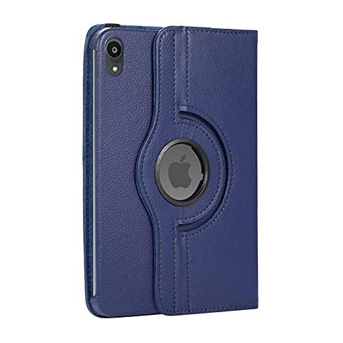 Capa para Samsung Galaxy Tab a7 lite 8.7 (2021) SM-T220, capa compatível SM-T225, capa de couro PU com rotação de 360 graus, capa ultrafina à prova de choque com ativação automática (azul escuro)