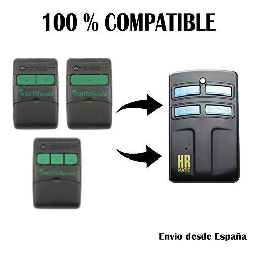 Mando Garaje Universal HR Multi 2 Compatible con CLEMSA MASTERCODE MV1, MV12 y MV123 MANDOS Puertas PORTON COCHERA Numero 1