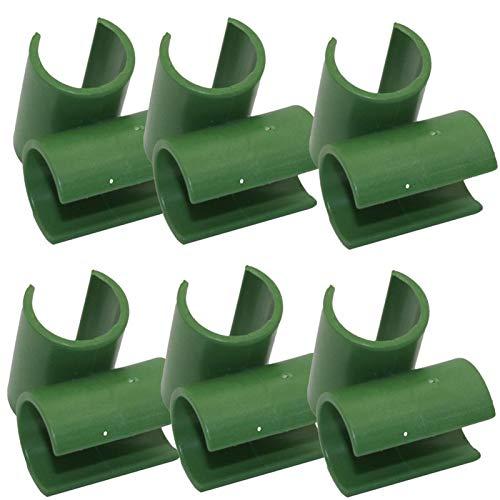 Clip de conector de enrejado para plantas ajustable - 6 piezas Conector de estacas de jardinería Resistente palo de jardín Pinzas de estaca de jardín Conector Ajuste de 360 grados para huerto