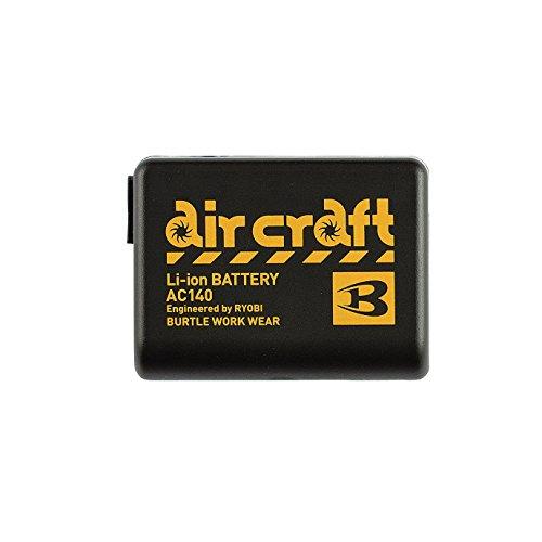 BURTLE バートル エアークラフト用 リチウムイオンバッテリー AC140 35 ブラック