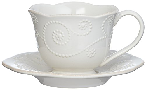 Lenox French Perle Cup and Saucer Set, White - 822946