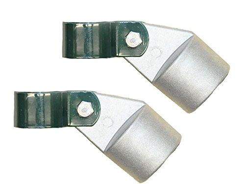 Zaun-Nagel Strebenkappen Aluminium mit Pfostenschelle Ø 34mm - Paket á 2 Stk.