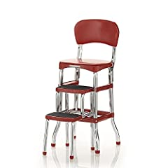 Easy to clean - Quality vinyl upholstery that makes cleaning a breeze Non-marring - Leg tips keep floor clean Comfortable - Cushioned seat and back Stylish - Chrome finish. Mobile:yes Multi-purpose - Counter height chair provides extra seating when n...
