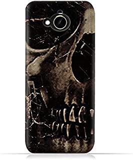 HTC Desire 10 Compact TPU Silicone Protective Case with Dark Skeleton Pattern