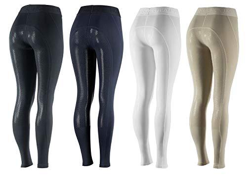 netproshop Damen Sommer Schlüpf Reithose Leggings Tights Vollbesatz Leicht Gr. 34-46, Damengroesse:38, Farbe:Dunkelblau