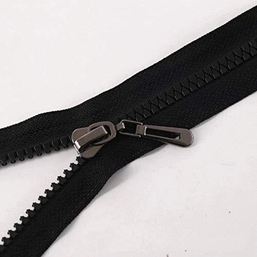 ZXD Scharnier 80 cm öffnen Harz mit Scharnier: Bunt Feder für Nähzubehör für Kleidung Do-it-Yourself-Antike-Silber,Black Nickel