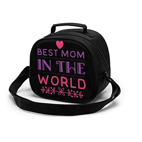 WORUIJIA Best Mom Children'S Meal Bag Waterproof Reusable Food Storage Lunch Tote Bag Keep Warm Shockproof Ice Pack Insulated Picnic Bag For Boys Girls